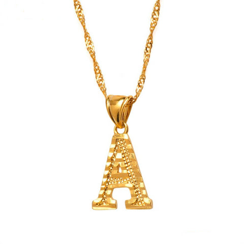 Image of A - Z Initial Letter Necklace