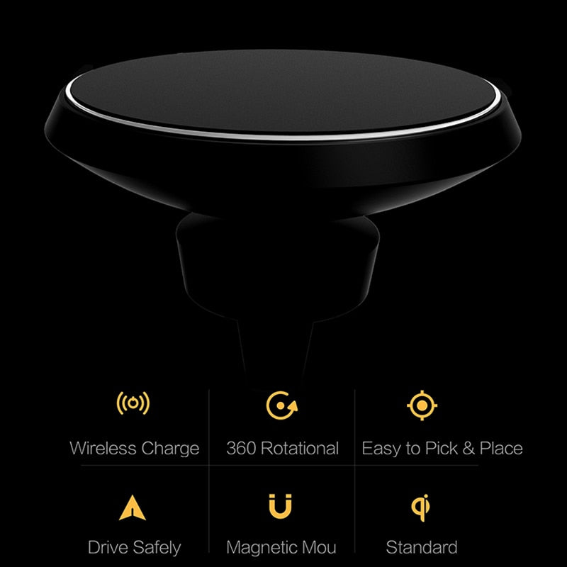 Magnetic Wireless Charger Holder - 360 Degree Qi