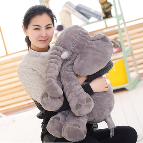 Image of Elephant Stuffed Animals Plush Toy Sleeping Pillow