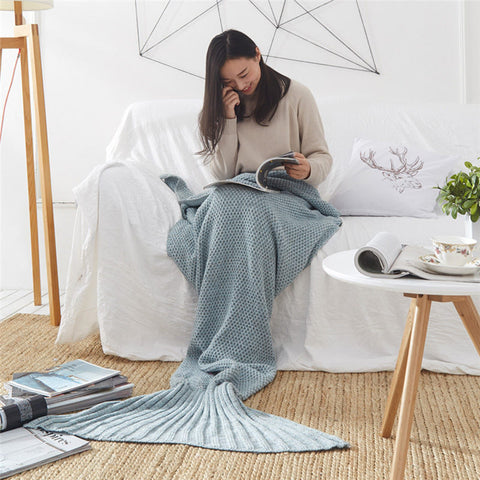 Image of Handmade Mermaid Throw Blanket