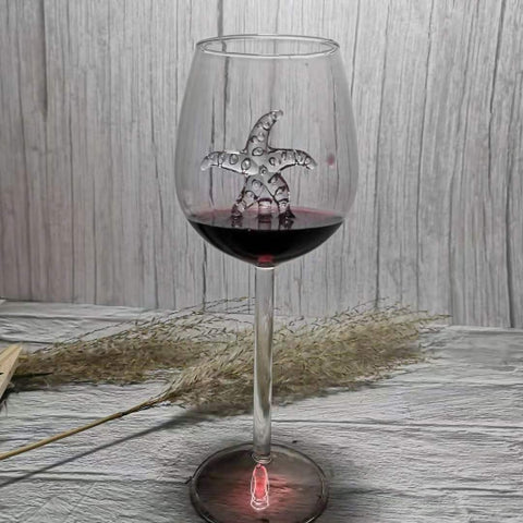 Image of 【Christmas Sale-50% OFF】SHARK RED WINE GOBLET (Handmade)
