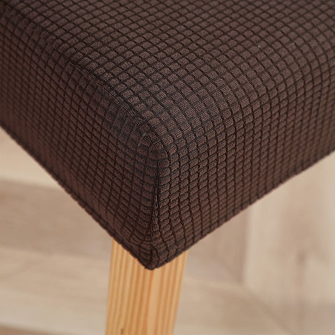 Jacquard Jersey Knit Solid Dining Chair Slipcover