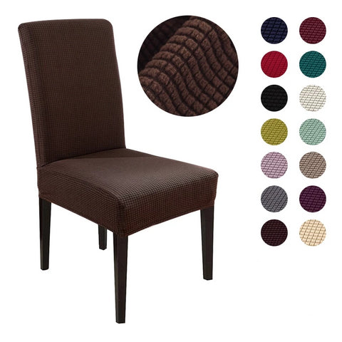 Image of Jersey Knit Solid Dining Chair Slipcover
