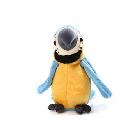 Image of Talking and Voice Mimicking Plush Parrot – Interactive Toy