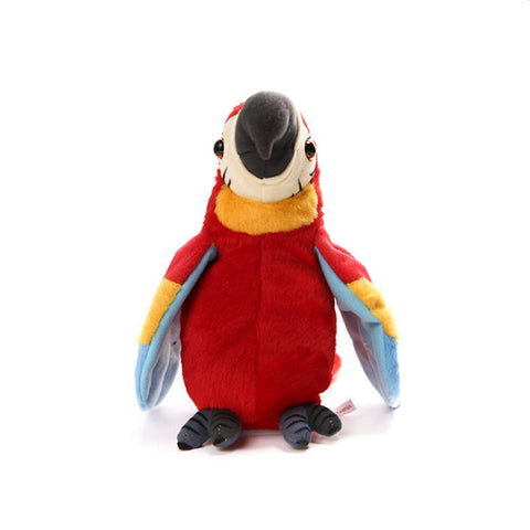 Talking and Voice Mimicking Plush Parrot – Interactive Toy