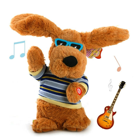 Image of Singing and Dancing Plush Dog - Interactive Toy