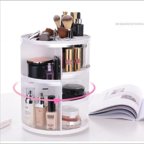 Image of 360 Degree Rotating Adjustable Cosmetics Makeup Organizer