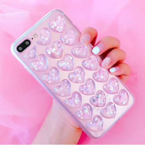 Image of Glitter Hearts Phone Cases - iPhone/Samsung