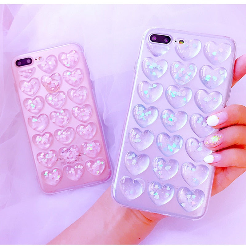 Glitter Hearts Phone Cases - iPhone/Samsung