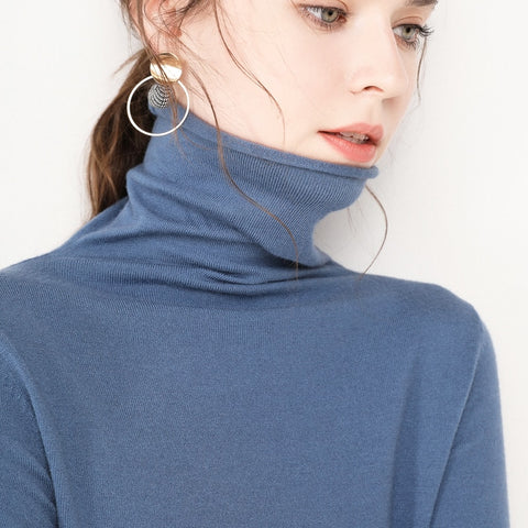 Women High Neck Sweater