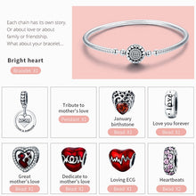Load image into Gallery viewer, Sterling Silver Love MOM Forever Bangle