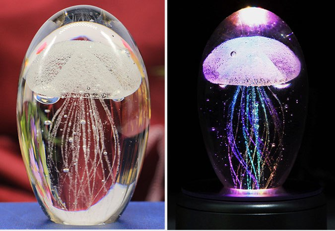 Jelly Fish Crystal LED Night Light
