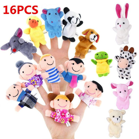 Image of Animal Plush Finger Puppets