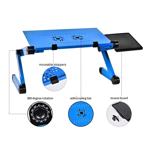 Image of Adjustable Laptop Portable Folding Desk