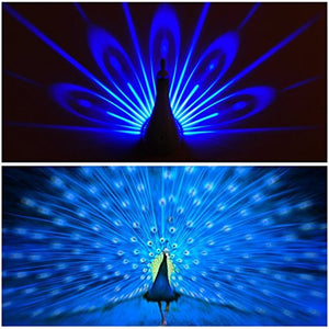 Peacock Night Light Projector