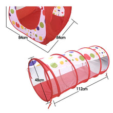 Load image into Gallery viewer, Kids Tunnel Tent 3 Pc