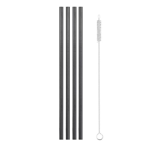 Image of Reusable Metal Drinking Straws