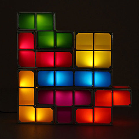 Image of DYI Colorful Tetris Puzzle LED Night Light