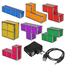 Load image into Gallery viewer, DYI Colorful Tetris Puzzle LED Night Light