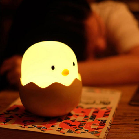 Image of Silicone Chicken Egg Touch Sensor LED Night Light