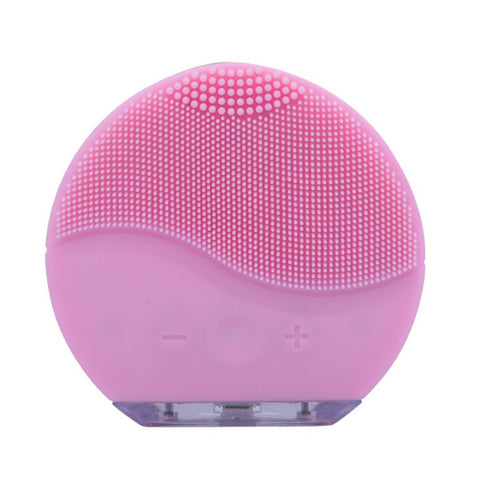 Image of Ultrasonic Electric Facial Cleansing Face Washing Brush
