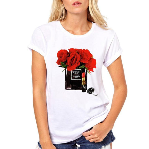 Flower and Nail Tee Shirt