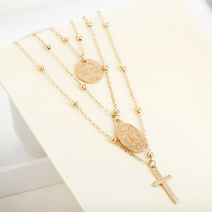 Multi layer Mary Pendant