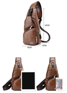 Luxury Cross body bag with USB Limited Edition