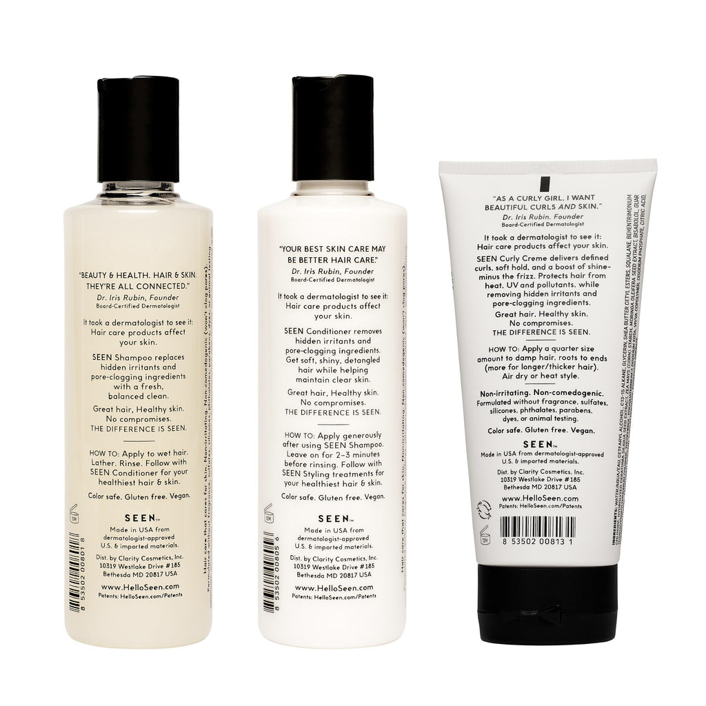 SEEN Curly Power Bundle, Fragrance Free