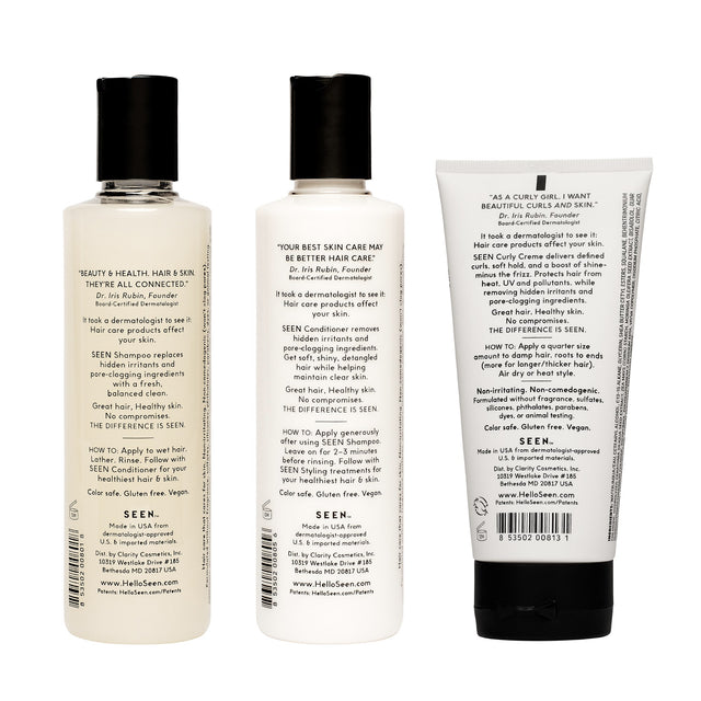 SEEN Power Bundle, Curly, Fragrance Free