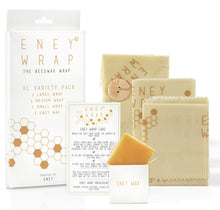 Load image into Gallery viewer, ENEY Premium Organic Beeswax Wraps | Honeycomb Print | 3 Pack