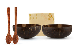 ENEY Sustainable Coconut Bowls and Beeswax Wrap