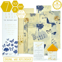 Load image into Gallery viewer, ENEY Premium Organic Beeswax Wraps | 7 Pack