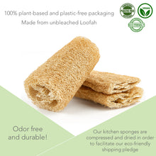 Load image into Gallery viewer, Eco-Friendly Plastic-Free Washing Up Sponge - 3 Pack