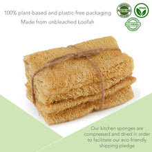 Load image into Gallery viewer, Eco-Friendly Plastic-Free Washing Up Sponge - 4 Pack