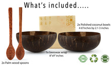 Load image into Gallery viewer, ENEY Sustainable Coconut Bowls and Beeswax Wrap