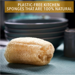 Eco-Friendly Plastic-Free Washing Up Sponge - 3 Pack