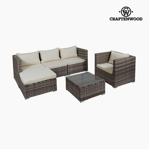 Bank en tafel set (4 pcs) by Craftenwood