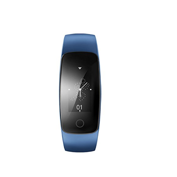 STR107+ Activity tracker - met Hartslagmeter - Stappenteller - Android/IOS - Polsomtrek 14 cm tot 20 cm - Blauw - Activitytracker