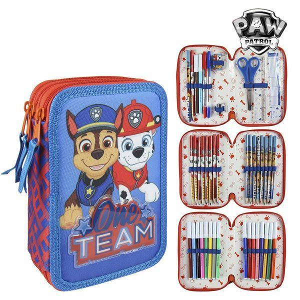 Driedubbele Pennenzak The Paw Patrol 8485 Rood