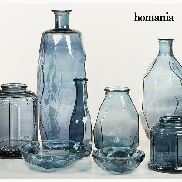 Vase made from recycled glass (29 x 29 x 59 cm) - Pure Crystal Deco Collectie by Homania