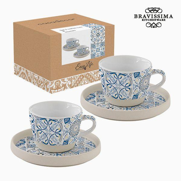Mokkenset Porselein Blauw (2 pcs) by Bravissima Kitchen