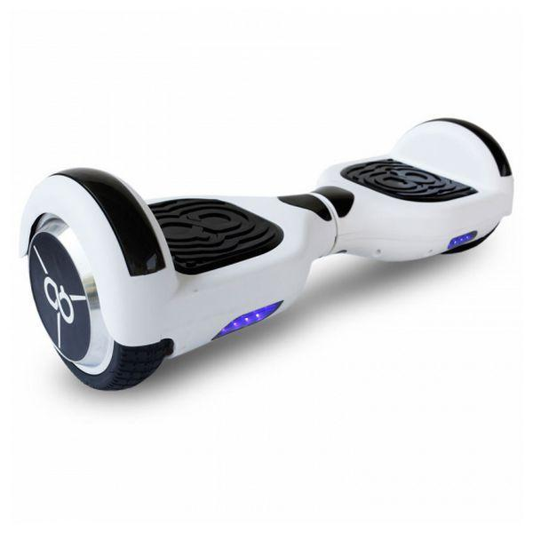 Elektrische Step Hoverboard Skate Flash K6+ 6,5'''' Bluetooth 500W Wit