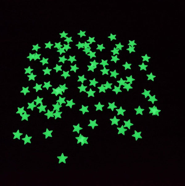 Glow in the Dark Stars | Gloeiende Sterren Sticker Set | Sterrenhemel - 100 Stuks - Muursticker