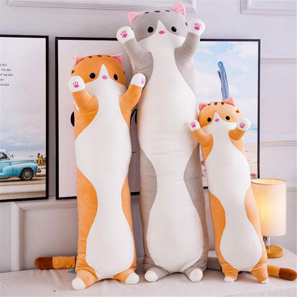 Decoratieve Hoofdkussens - X338 /  Cute Plush Cat Doll Soft Stuffed Kitten Pillow