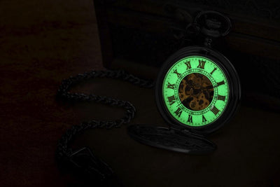 Glow in the Dark Mechanisch Zakhorloge ZX737 - 48MM - Zwart - Zakhorloge