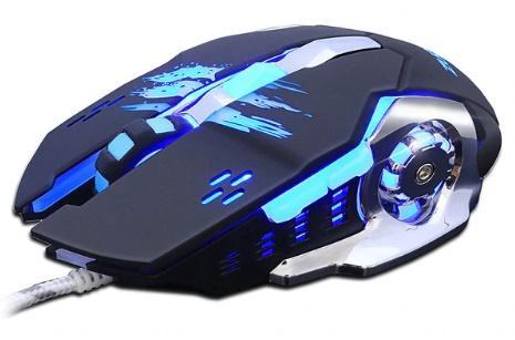 Professionele Gaming Muis 3200 DPI LED Optical USB - Zwart / Blauw / MR04 - Gaming muizen