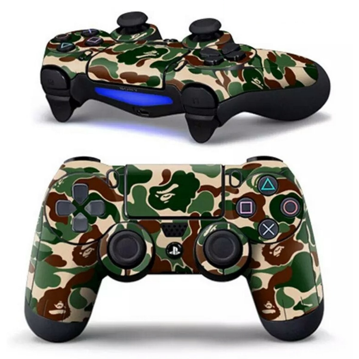 PS4 Dualshock Controller PlayStation Sticker Skin - Army Camouflage Leger
