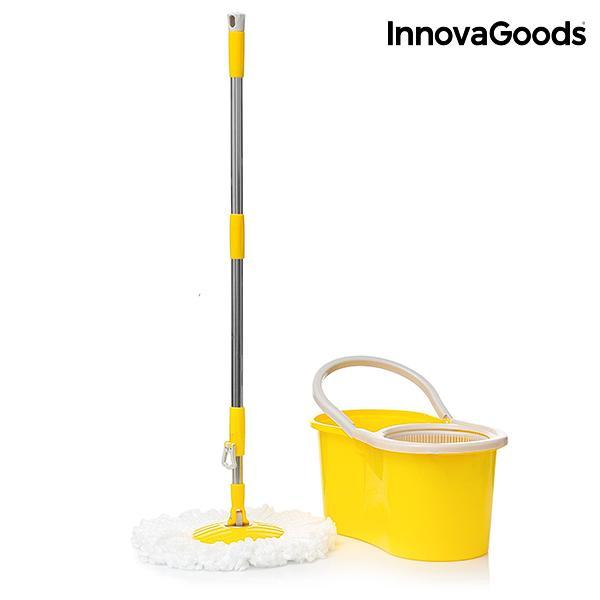 InnovaGoods Double Action Rotating Mop with Bucket