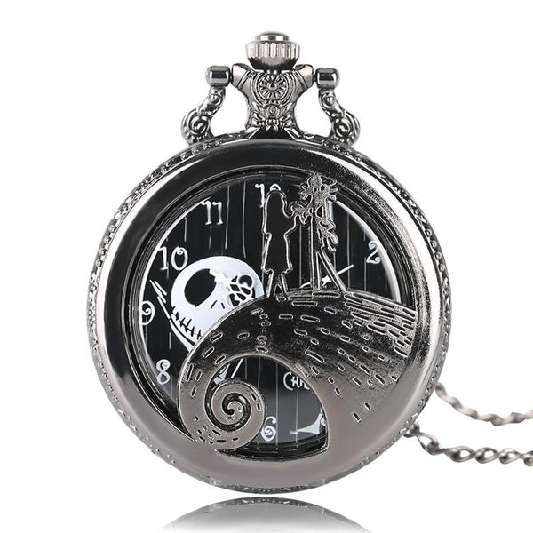 Vintage Zakhorloge - 48MM - The Nightmare Before Christmas Motief - Kettinghorloge